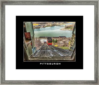 Duquesne Incline Framed Print by Eclectic Art Photos