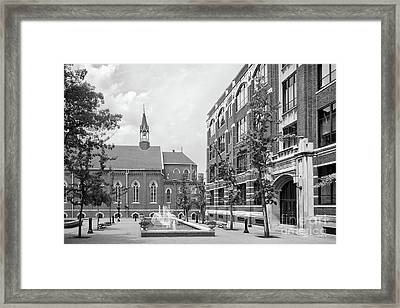 Duquesne University Chapel And Canevin Hall Framed Print by University Icons