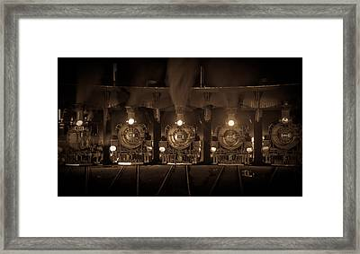 Durango Roundhouse Framed Print by Patrick  Flynn
