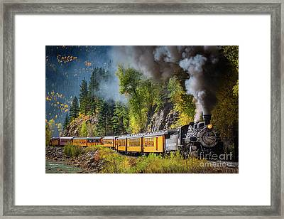 Durango-silverton Narrow Gauge Railroad Framed Print by Inge Johnsson