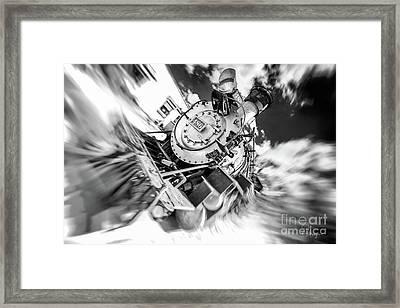 Durango Silverton Train Arrives Framed Print
