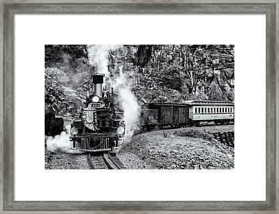 Durango Silverton Train Bandw Framed Print