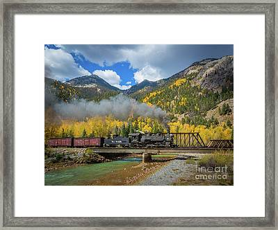 Durango-silverton Twin Bridges Framed Print by Inge Johnsson