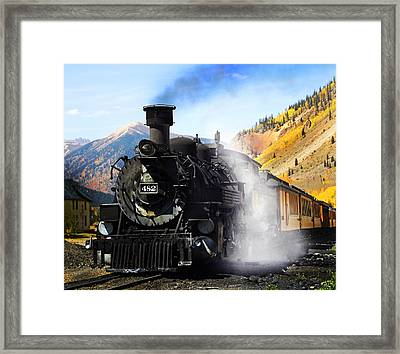 Durango To Silverton Narrow Gauge Train Framed Print by Terril Heilman