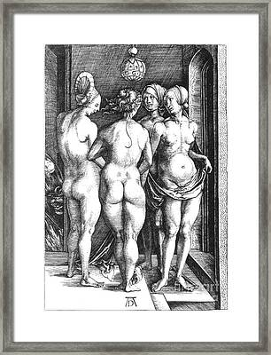 Durer: Four Witches, 1497 Framed Print by Granger