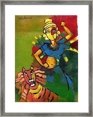 Durga Framed Print by Abdus Salam