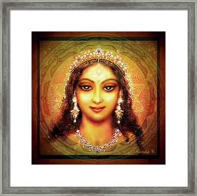 Durga In The Sri Yantra Framed Print