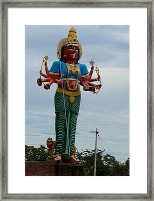 Durga On Route To Madurai Framed Print by Jennifer Mazzucco