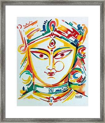 Durga - The Goddess Of Power Framed Print