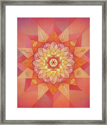 Durgama Mandala Framed Print by Mavis Gewant