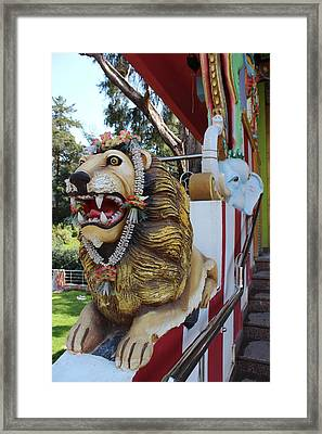 Durga's Lion Framed Print by Jennifer Mazzucco
