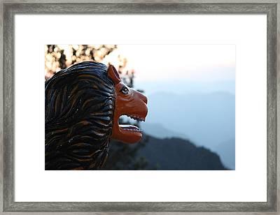 Durga's Lion, Rishikesh Framed Print by Jennifer Mazzucco