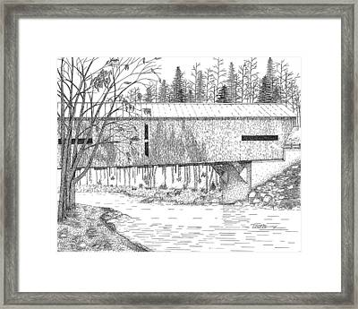 Durgin Bridge Framed Print