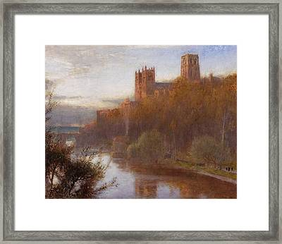 Durham Cathedral Framed Print by Albert Goodwin