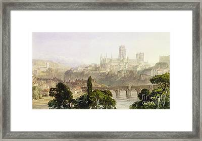 Durham Cathedral Framed Print by George Arthur Fripp