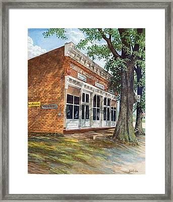 Durham Mercantile  Sold Framed Print