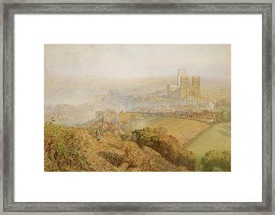 Durham Misty With Colliery Smoke Framed Print