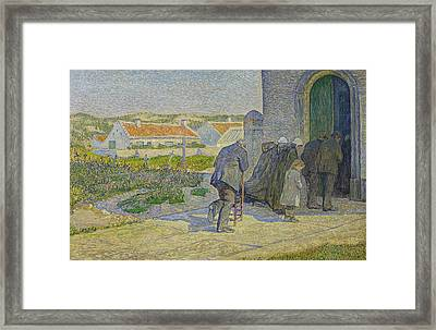 During The Elevation Framed Print by Anna Boch