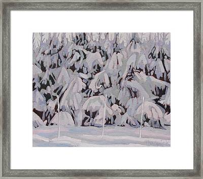During The Storm Framed Print
