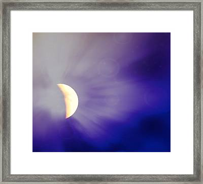 Aries Moon During The Total Lunar Eclipse 3 Framed Print