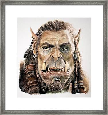 Durotan, Warcraft Movie Framed Print by Joy Eason