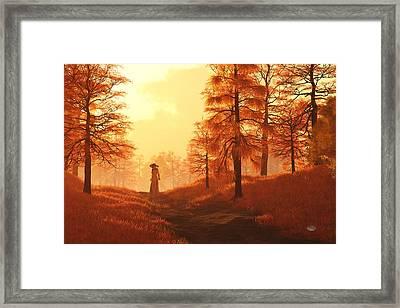 Dusk Approaches In Sleepy Hollow Framed Print by Daniel Eskridge