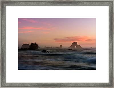 Dusk At Ecola Point Framed Print