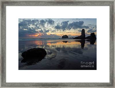 Dusk At Face Rock Framed Print by Mike Dawson
