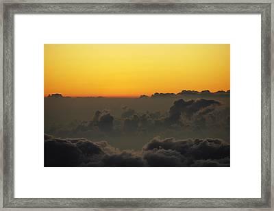 Dusk At Haleakala Framed Print