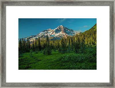 Dusk At Indian Henry Campground Framed Print