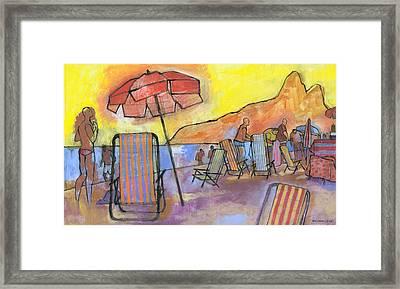 Dusk At Ipanema 2 Framed Print by Douglas Simonson