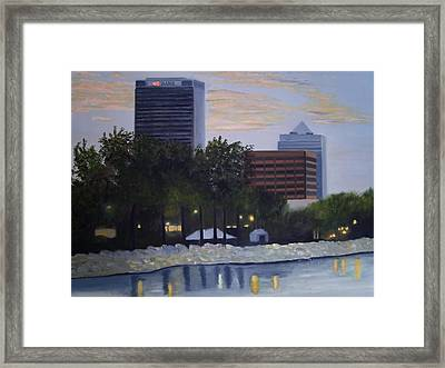 Dusk At Irish Fest Framed Print