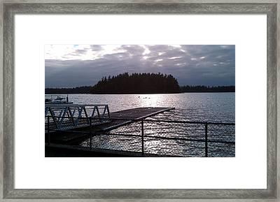 Dusk At Lakeside Framed Print by HP Hwang