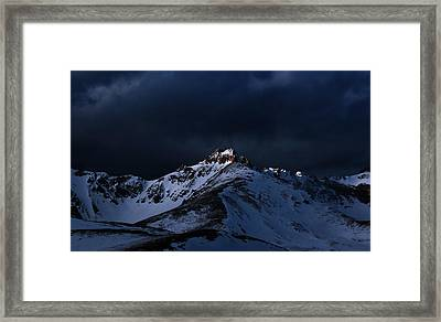 Dusk At Loveland Pass Framed Print