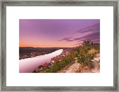 Dusk At Mount Bonnell In Austin, Texas Framed Print