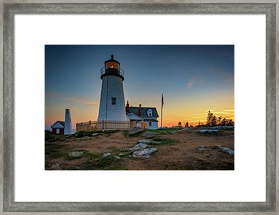 Dusk At Pemaquid Point Framed Print by Rick Berk