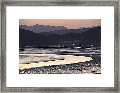 Dusk At Suncheon Bay Framed Print by Ng Hock How