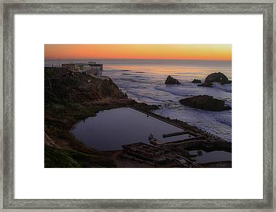 Dusk At Sutro Baths Framed Print