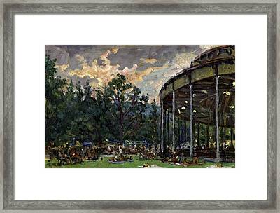 Dusk At Tanglewood Framed Print