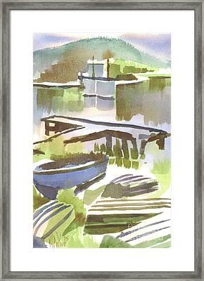 Dusk At The Boat Dock Framed Print by Kip DeVore
