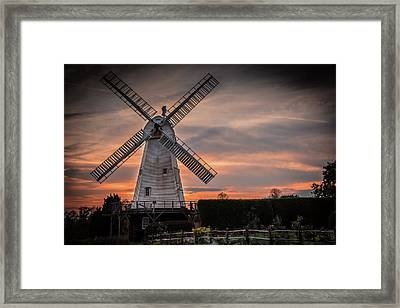 Dusk At The Mill Framed Print by Jeremy Sage