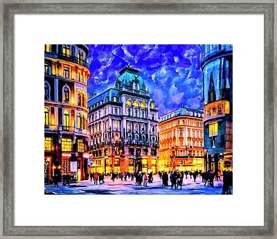 Dusk Blue Skies Over Vienna Framed Print