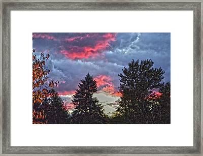 Dusk Cloudscape Framed Print by Bob LaForce