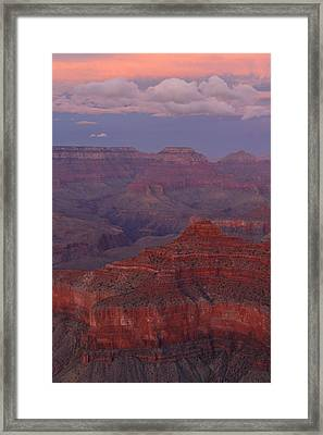 Framed Print featuring the photograph Dusk From Mather Point by Stephen  Vecchiotti