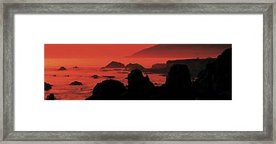 Dusk Headlands Near Pacific Valley Big Framed Print