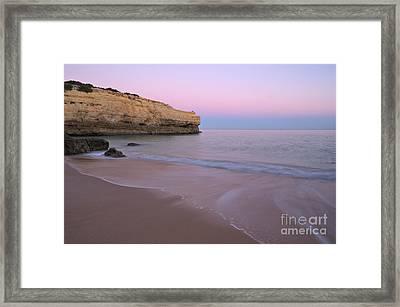Dusk In Albandeira Beach Framed Print