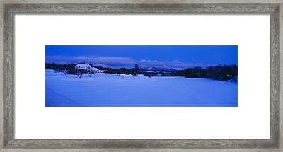 Dusk In Lyndonville, Darling Hill Road Framed Print by Panoramic Images