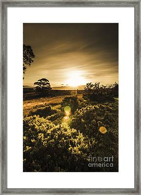 Dusk In Rural Australia Framed Print by Jorgo Photography - Wall Art Gallery