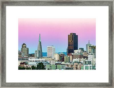 Dusk In San Francisco Framed Print by Bill Gallagher