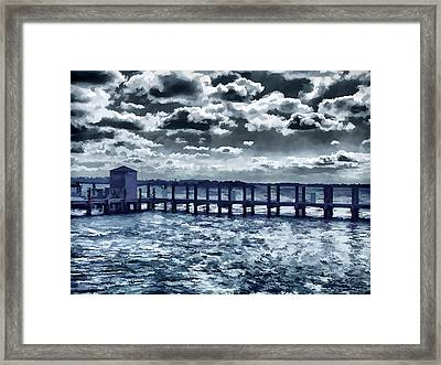 Dusk In Swansboro Framed Print by Lanjee Chee